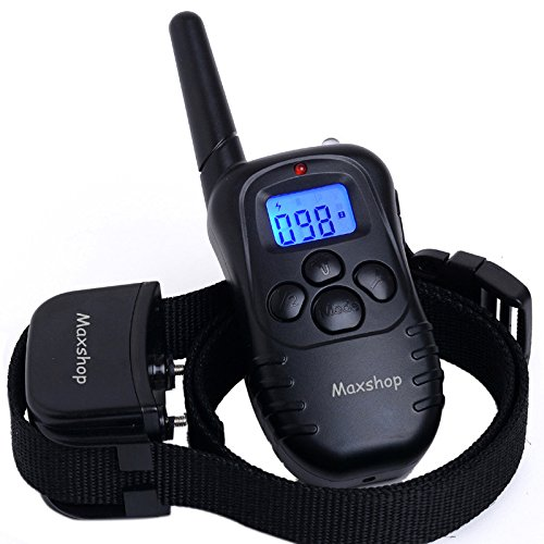 Maxshop Waterproof Dog Training Collar Rechargeable and Rainproof 330yd Remote Dog Shock Collar with Beep, Vibration and Shock Electronic Collar