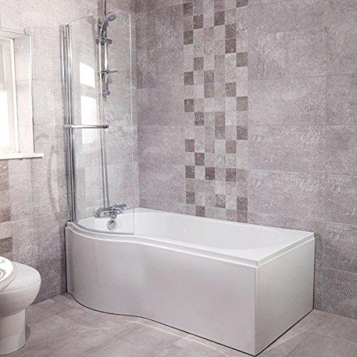 Shower Bath Tub Many Sizes Styles Acrylic White P Shape 1700 Left Hand