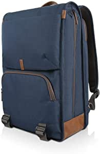 """Lenovo 15.6"""" Laptop Urban Backpack B810, 15.6-Inch Laptop or Tablet, Sturdy, Water-Resistant Fabric, Padded Compartment, Anti-Theft Pocket, Business Casual, Travel or School, GX40R47785, Blue"""