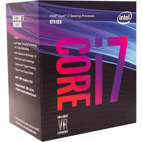 Intel Core i7-8700 3.2GHz 12Mo Smart Cache Boîte processeur - processeurs (up to 4.60 GHz), Intel Core i7-8xxx, 3,2 GHz, LGA 1151 (Socket H4), PC, 14 nm, i7-8700