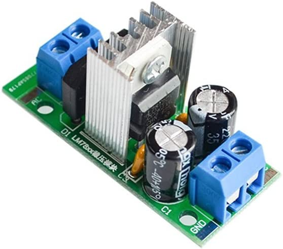 5PCS//LOT Step-down power supply module L7812 voltage regulator filter rectifier module AC output 12V DC 1.5A