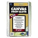 Trimaco 56701 Premium Utility Weight Canvas Drop Cloth, 6-Ounce, 9-Feet x 12-Feet