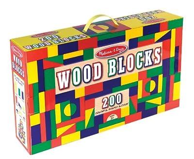 Melissa & Doug 200 Wood Block Set from Melissa & Doug