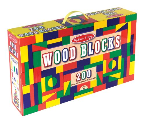 200 Piece Building Block (Melissa & Doug 200 Wood Block Set)