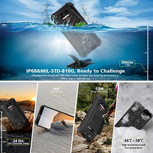 Téléphone Incassable OUKITEL WP5, Grande Batterie 8000 mAh, 4GO RAM + 32Go ROM, Smartphone Antichoc Étanche, Écran 5,5… 2