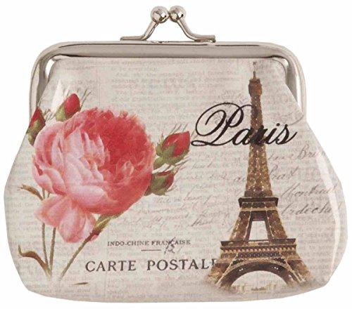 Clayre & Eef fap0054Borsa Portafoglio Custodia Portafoglio Portamonete Parigi Torre Eiffel circa 11,5x 10cm