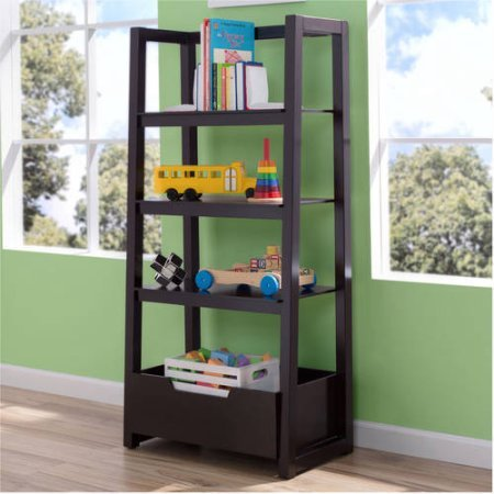 Delta Children Gateway Ladder Shelf - Dark Chocolate