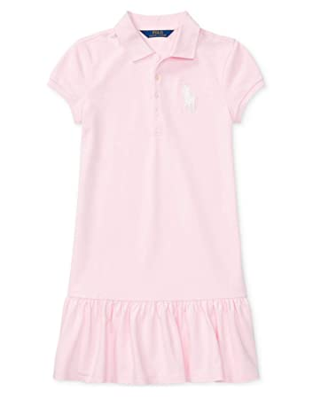 b0662be95 Image Unavailable. Image not available for. Color  Ralph Lauren Girls Big  Pony Ruffle Polo Dress ...