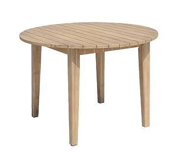 Amazon De Garten Tisch Arvada O 110 Cm Akazie Holz Esstisch