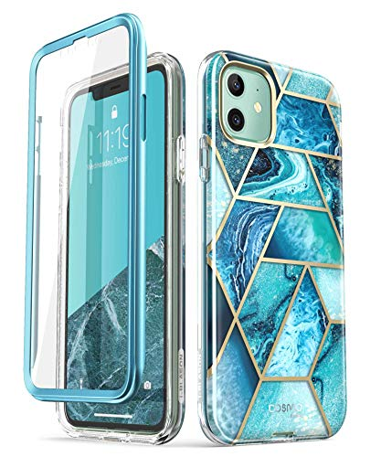 i-Blason Cosmo Series Case for iPhone 11 (2019 Release), Slim Full-Body Stylish Protective Case with Built-in Screen Protector, Ocean, 6.1''
