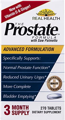 Real Health, The Prostate Formula with Saw Palmetto, 3 Pack 270 Tablets Product Out of Reach