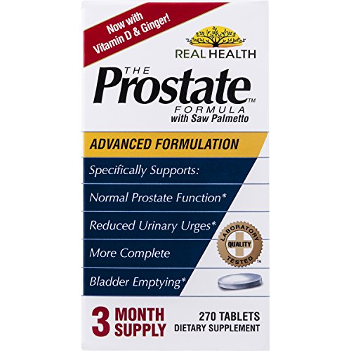 Real Health The Prostate Formula with Saw Palmetto, 270 Tablets (Best Saw Palmetto For Prostate)