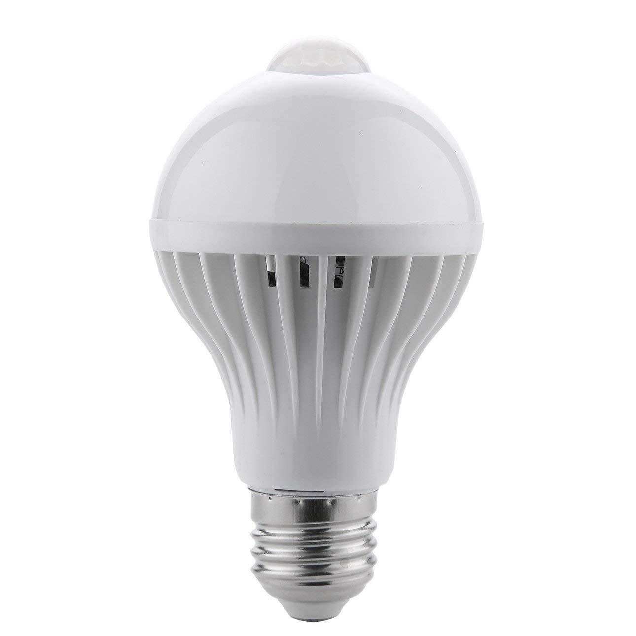 Liobaba LED PIR Infrared Motion Sensor Light,220V LED Bulb Auto Smart Intelligent PIR Infrared Body Motion Sensor Light E27 Socket