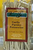 Garlic Parsley Linguine Pasta - All Natural Al Dente Italian Style Fresh Handmade Pasta - 6 Pack