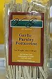 Garlic Parsley Linguine Pasta - All Natural Al Dente Italian Style Fresh Handmade Pasta - 6 Pack