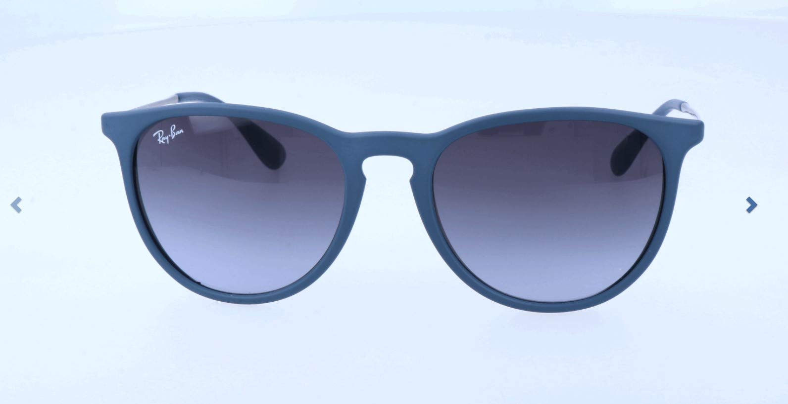 RAY-BAN RB4171 Erika Round Sunglasses, Rubber Blue/Grey Gradient, Grey Gradient by RAY-BAN