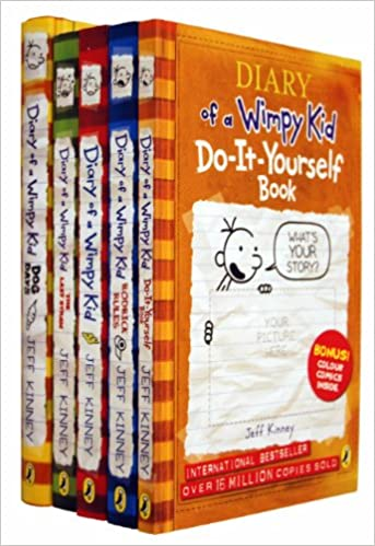 Diary of a wimpy kid collection 5 books set jeff kinney the last diary of a wimpy kid collection 5 books set jeff kinney the last straw rodrick rules dog days diary of a wimpy kid do it yourself amazon jeff solutioingenieria Images