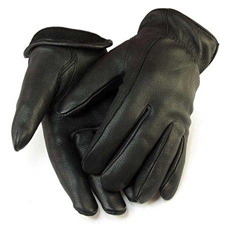 Northstar Womens Full Grain Deerskin Leather Gloves Lined, Elastic Wrist 014B
