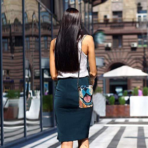 HYJUK Mobiltelefon crossbody väska gyllene retriever hund kvinnor PU-läder mode handväska med justerbar rem