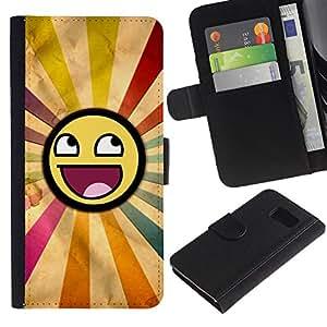 All Phone Most Case / Oferta Especial Cáscara Funda de cuero Monedero Cubierta de proteccion Caso / Wallet Case for Sony Xperia Z3 Compact // Smiley Rainbow Sun Symbolic Lgbt Art