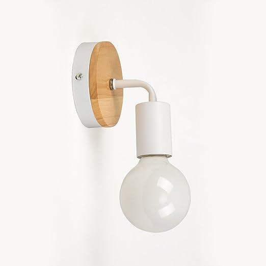 5 opinioni per OYGROUP Loft lampada da parete Simplicidad E27 LED di ferro e piastra di legno