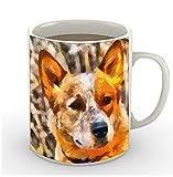 Australian Cattle Dog - Red Heeler - 11 Ounce Ceramic Mug by DoggyLips