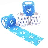 Cohesive Pet Bandages, 4 Rolls Self Adherent Vet Wrap Tape...