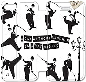 Personality Design Chaplin-16 iPhone 4 4S Leather Flip Case
