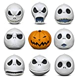 Hallmark Keepsake Christmas Ornaments 2018 Year Dated, Tim Burton's The Nightmare Before Christmas The Many Faces of Jack Skellington 25th Anniversary, Porcelain, Set of 9