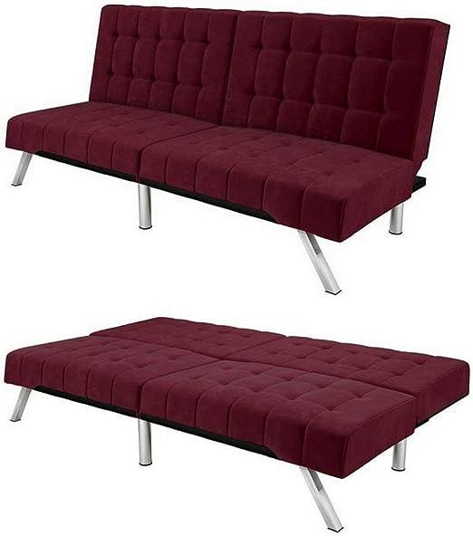 Amazon.com: Convertible Loveseat Sofa Splitback Bed Recliner ...