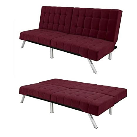 Amazon.com: Convertible Loveseat Sofa Splitback Bed Recliner ...