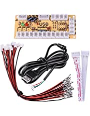 Quimat Zero Delay Arcade USB Encoder PC to Joystick with 5pin Cable for Mame Jamma & Other PC Fighting Games QR04