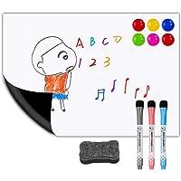 "Magnetic Dry Erase White Board Sheet for Kitchen Fridge 12""x8"" Stain Resistant Technology – Refrigerator Whiteboard…"