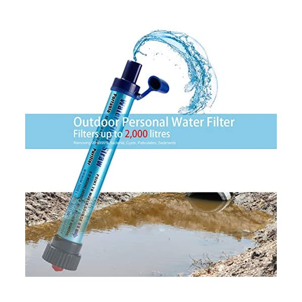 51LfRKU6FmL Vintoney Wasserfilter Camping Outdoor 2000L Personal Mini Tragbarer wasserfilter trinkwasser für Outdoor unterwegs…