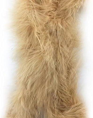 6 feet 2 Yards Marabou Fluffy Turkey Feather Wedding Party Scarf