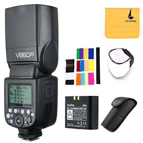 - Godox V860II-O 2.4G TTL Li-on Battery Camera Flash Speedlite Compatible for Olympus Panasonic Cameras