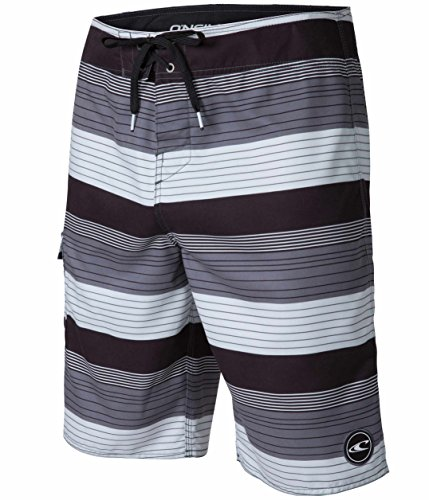 O'Neill Santa Cruz Catalina 2.0 Men's Board Shorts, Black Gray Plaid, Size 34 2 Boardshort Black Apparel