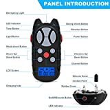 Flittor Shock Collar for Dogs, Dog Training Collar, Rechargeable Dog Shock Collar with Remote, 3 Modes Beep Vibration and Shock Waterproof Bark Collar for Small, Medium, Large
