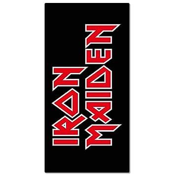 Iron Maiden - Toalla de baño toalla de playa - Logo - 75 x 150 cm: Amazon.es: Hogar