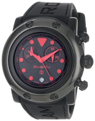 Glam Rock Women's 'Miami Beach' Swiss Quartz Resin and Silicone Casual Watch, Color:Black (Model: GR61113)
