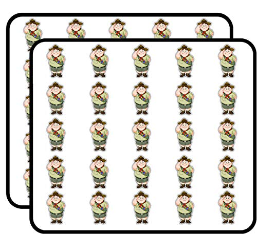 Boy Scout Happy Funny Cartoon Sticker for Scrapbooking, Calendars, Arts, Kids DIY Crafts, Album, Bullet Journals 50 ()