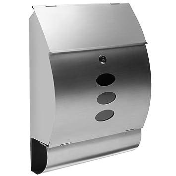 Bakaji 2832149 Buzón de acero inoxidable para correo de ...