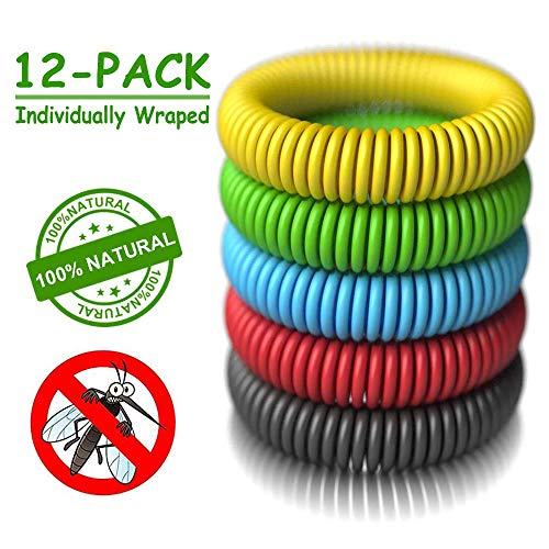 Mosquito Repellent Bracelets - [320Hrs of Protection] Natural Indoor and Outdoor Insect Repel for Adults and Babies - Pest Control Bug Repeller Band - Works for Man Woman Kid Children Teenager (What's The Best Mosquito Repellent)