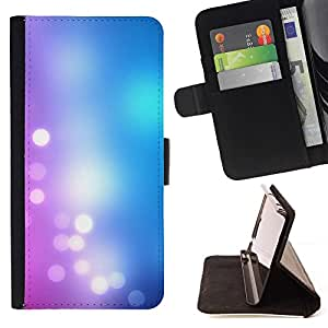 For Sony Xperia Z1 L39 Case , Bleu rose vif White Lights - la tarjeta de Crédito Slots PU Funda de cuero Monedero caso cubierta de piel