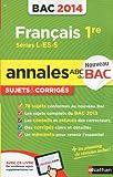 ANNALES BAC 2014 FRANCAIS 1ER
