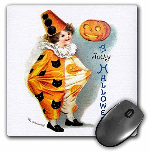 3dRose VintageChest - Halloween - Clapsaddle - Jolly Halloween Harlequin - MousePad (mp_159934_1)