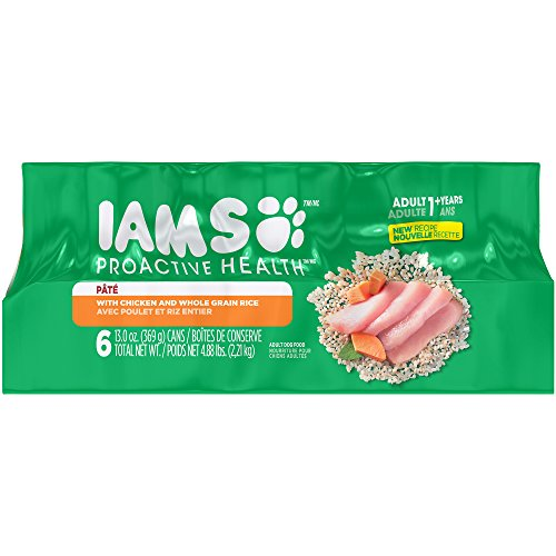 Iams Proactive Health Adult Multipack With Chicken And Whole Grain Rice Pate Wet Dog Food 13.0 Ounces (Pack Of 6)