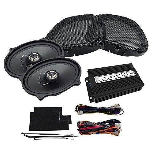 Hogtunes REV200RGKIT-AA Front Speaker Kit (200 Watt (100W x 2 CH) Amp with for 1998-2013 Harley-Davidson FLTR Road Glide Models)