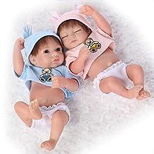 "TERABITHIA Miniature 10"" Cute Real Life Reborn Baby Dolls Silicone Vinyl Full Body Boy Girl"