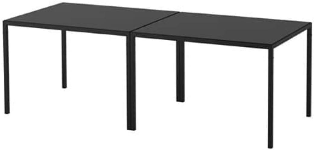 IKEA Nyboda - Mesa de centro reversible con parte superior de mesa negra y beige 192.083.16 tamaño 29 1/2 x 47 1/4 x 19 5/8 pulgadas: Amazon.es: Hogar